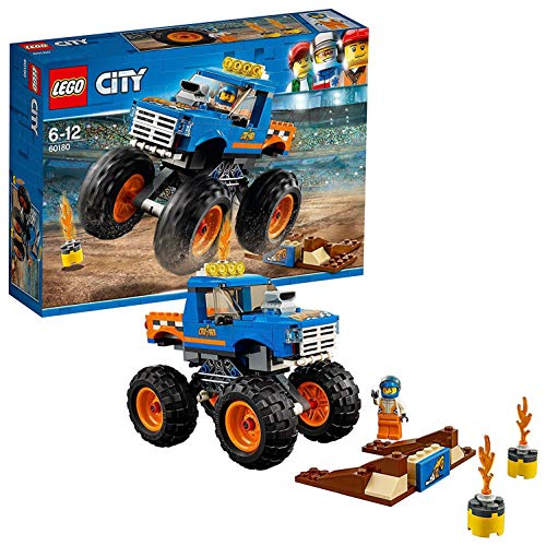 LEGO- City Monster Truck, Multicolore, 26 x 72 x 19 cm, 60180
