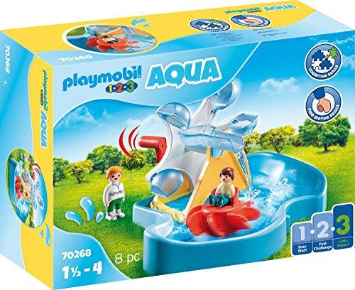Playmobil 1.2.3 70268 - Ruota Acquatica Con Giostrina, dai 18 mesi