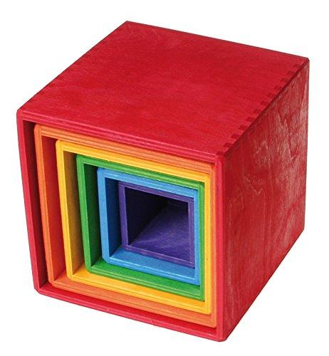 Grimm's Toys Scatole da Impilare Arcobaleno
