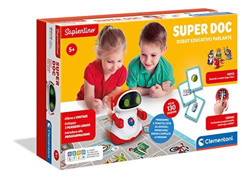 Clementoni - 12094 - Sapientino - Super Doc, robot educativo per bambini (versione in italiano), robot...
