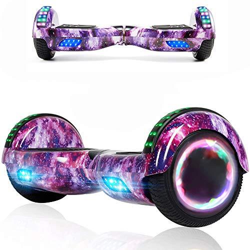 Magic Vida Skateboard Elettrico 6.5 Pollici Bluetooth Power 700W con Due Barre LED Monopattini elettrici...