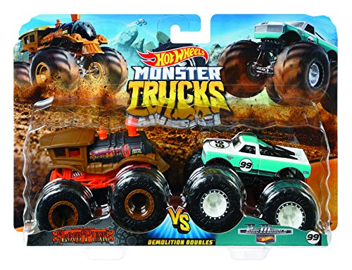 Mattel Hot Wheels FYJ64 - Modellino di Monster Truck Duos, Modelli assortiti, 1 pezzo