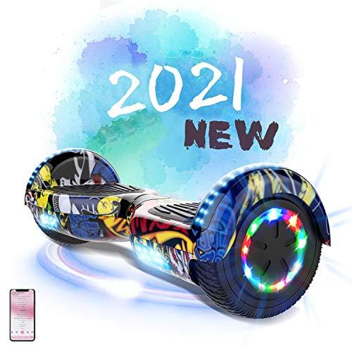 MARKBOARD Hoverboard da 6,5 Pollici per Bambini e Adulti, Smart Scooter Auto Bilanciamento Bluetooth...