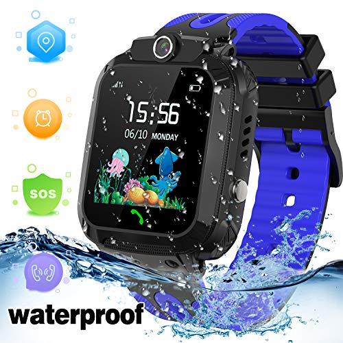 LDB Smartwatch Bambini, Impermeabile GPS/LBS Tracker Chat Vocale Telecamera Remota SOS Chiamata...