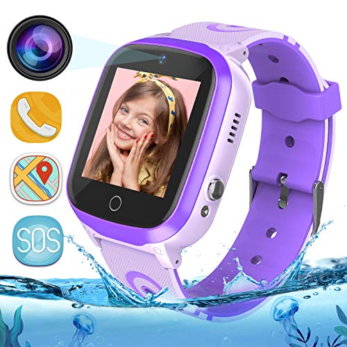 Bambini Smartwatch IP67 Impermeabile - WiFi + GPS + LBS Tracker Smart Watch con Contapassi Gao Fence...