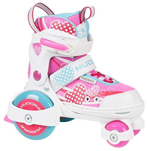 HUDORA 22042 My First Quad – Pattini a rotelle regolabili, Bambine, Rosa (Pink), 26-29