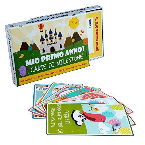 Cartoline Prime Tappe - Carte Milestone (cards) - Confezione da 40 carte colorate illustrate con bella...
