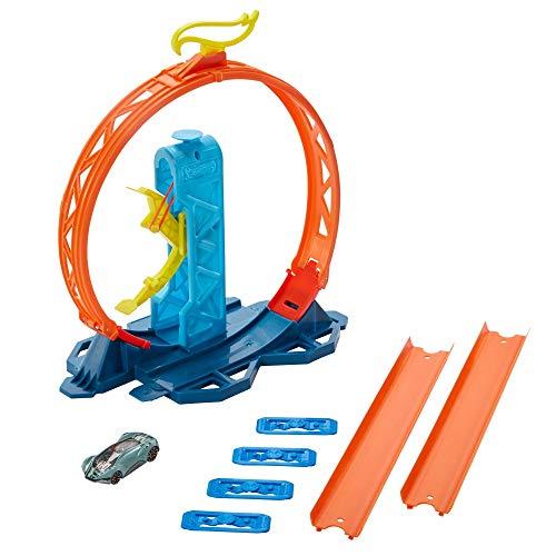 Hot Wheels Track Builder Lanciatore per Loop con Macchinina, Giocattolo per Bambini 4+ Anni, GLC90