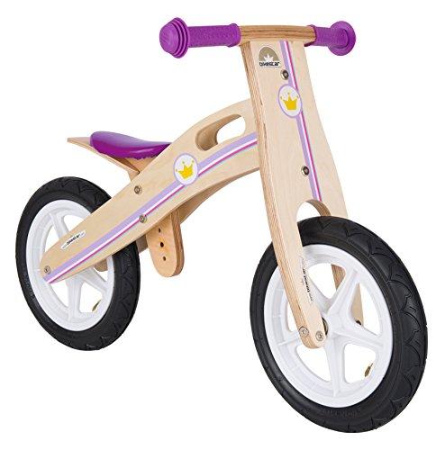 Bikestar - Bicicletta da corsa in legno per bambini dai 3 anni in su, edizione 30,5 cm, colore: bianco,...
