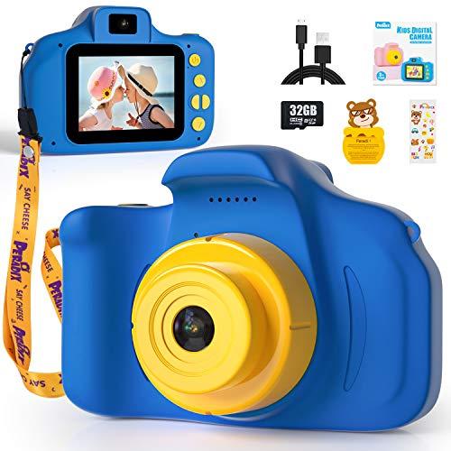 Peradix Fotocamera per Bambini,1080P HD Mini Telecamera per Bambini con Scheda SD 32 GB,Fotocamera per...