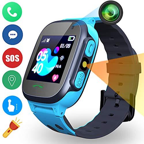 Smartwatch per Bambini 4G con Video Chat, Orologio per Bambini GPS+LBS+WiFi Tracker Localizzatore,...