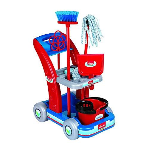 La Nuova Faro 6770 Faro Trolley Vileda - Set giocattolo Pulizia Lavori Domestici, Multicolore
