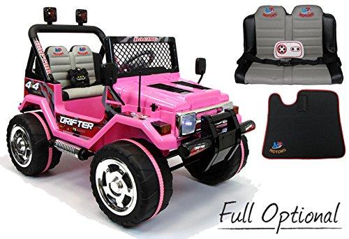 Mondial Toys Auto ELETTRICA 12V Drifter 2 POSTI per Bambini con Telecomando 2.4G Soft Start Full Optional...