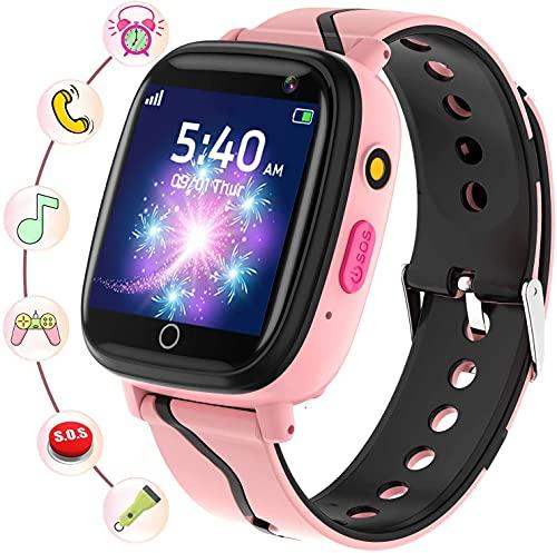 Smartwatch Bambini - Smartwatch Telefono con SOS Gioco Musica Camera Sveglia Registratore Contatti...