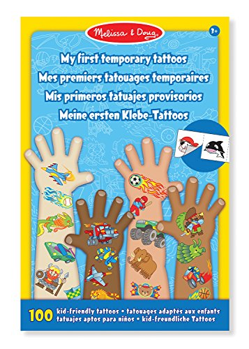 Melissa & Doug- My First Temporary Tattoos Tatuaggi Temporanei, Multicolore, 2947