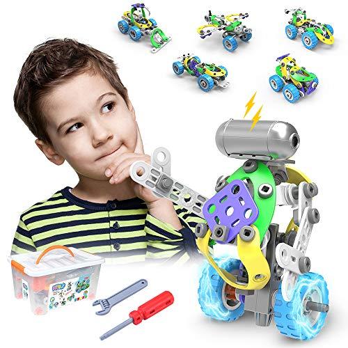 CENOVE Giocattoli STEM 5 in 1 Kit di Costruzione di Giocattoli, Kit di Costruzione educativi Giocattoli...