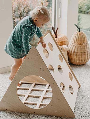 MAMI | Triangolo di Pikler per Bambini | Struttura per Arrampicata da Interno | Realizzato in Legno...
