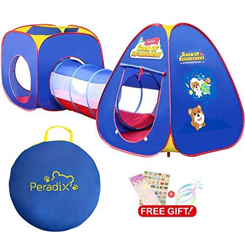 Tunnel e Casetta Tenda da Gioco, Peradix Tende per Bambini - Indoor / Outdoor Gioco e Play Tent Cubby...