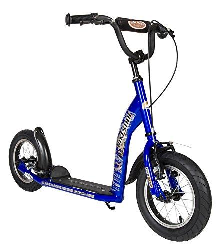 BIKESTAR Kick Scooter con freni, parafango e pneumatici per bambini 7 anni | Sport Edition con cerchi in...