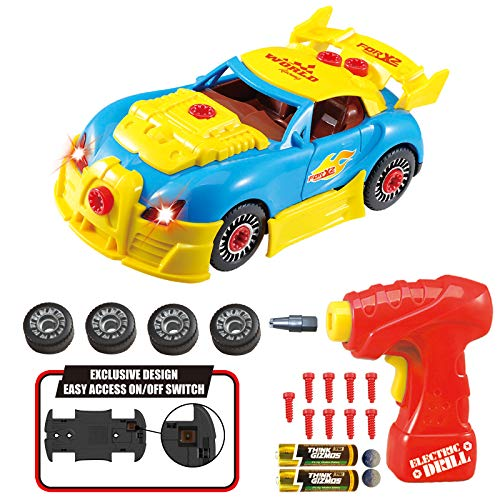 Think Gizmos TG642smontare Racing Construction Toy Kids-Build Your Own Kit per Auto, Versione 3