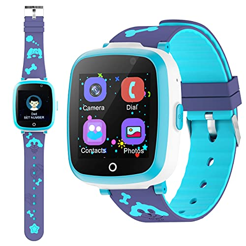 ETPARK&1 Orologio Intelligente Bambini con 6 Giochi, Kids Smart Watch Phone per Bambini Musica MP3, LBS...