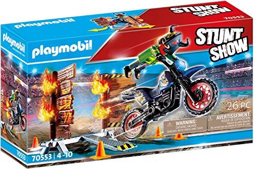 PLAYMOBIL Stuntshow 70553 - Moto da acrobazie, Dai 4 ai 10 anni
