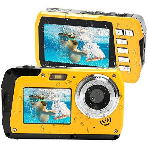 Lincom Macchina Fotografica Subacquea Fotocamera Subacquea Digitale 2.7K Full HD 48.0 MP con Doppio...