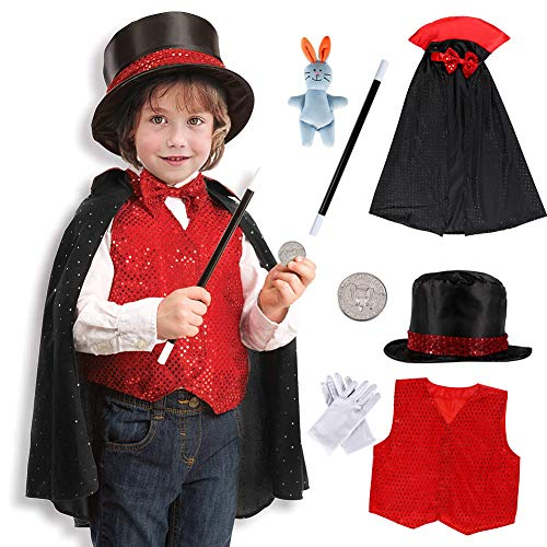 Tacobear Mago Costume Bambino Mago Accessori Travestimento Mago Costume di Ruolo Bambini per Natale...