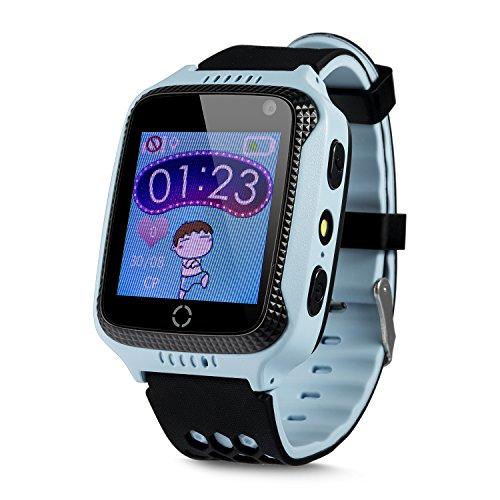 Orologio tracker GPS per bambini, con telefono, chiamata di emergenza SOS, posizionamento GPS+LBS (senza...