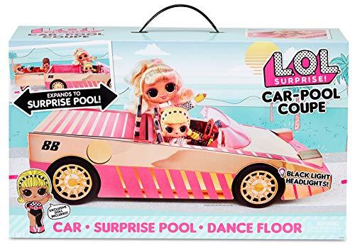 LOL Surprise Auto-Piscina con Bambola Esclusiva, Include un'Auto Multicolore, una Piscina a Sorpresa, una...