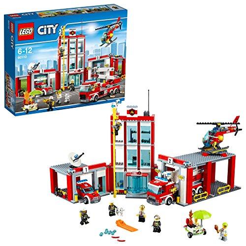 LEGO- City Caserma dei Pompieri Costruzioni Piccole Gioco Bambina Giocattolo, Colore Non specificato,...