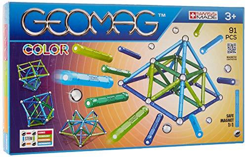 Geomag- Color Gioco di Costruzione con Sfere e Barrette, Multicolore, 91 Pezzi, PF.510.263.00