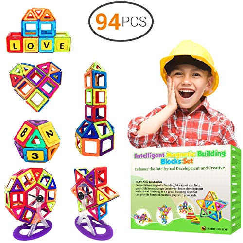 Desire Deluxe 94 Pezzi Costruzioni Magnetiche per Bambini Gioco Educativo e Creativo per Bimbi da 3 Anni...
