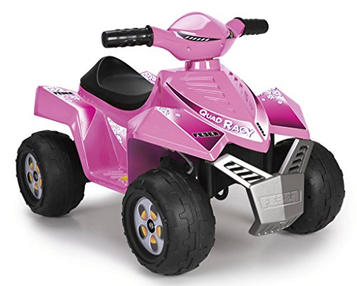Feber- Quad Racy Veicolo, 6 V, Colore Rosa, 800011422