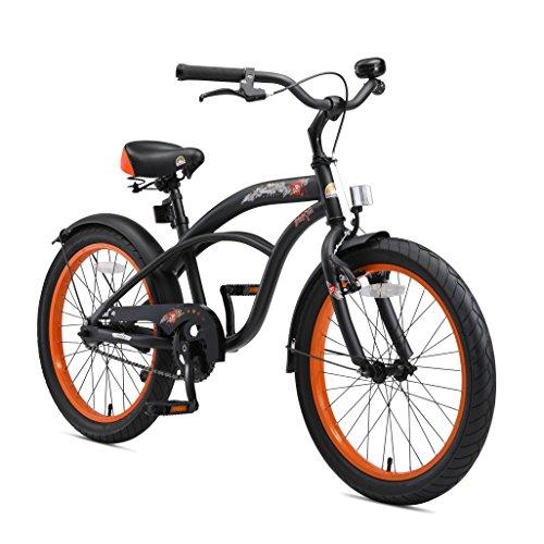 BIKESTAR Bici Bicicletta per Bambini con Laterale e Accessori per Bambini 6 anni | 20Inch Cruiser Edition...