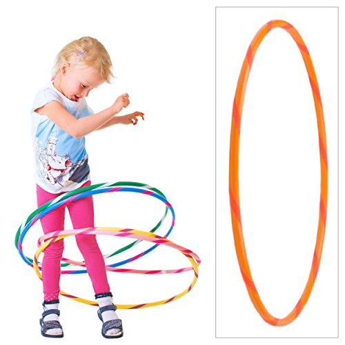 hoopomania Colorato Bambini Hula Hoop per i Piccoli Professionisti, Ø60/70/80cm