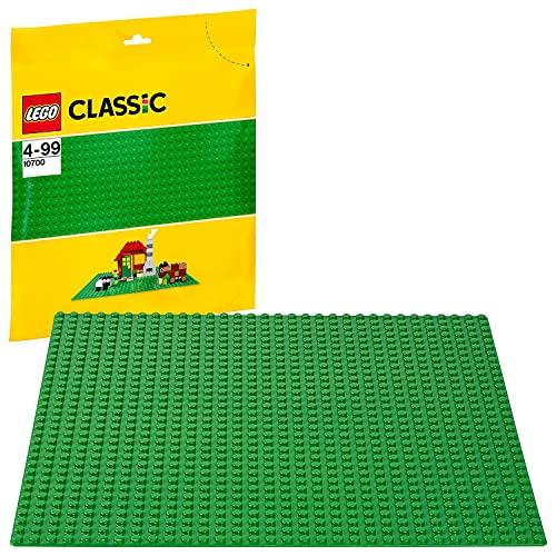 LEGO Classic Base Verde Extra per Costruzioni, Piattaforma 25 cm x 25 cm, 10700