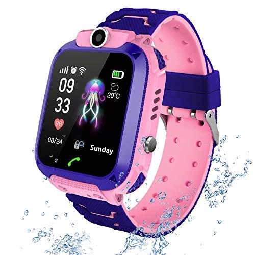 Kids Smartwatch Phone per Bambini GPS Tracker, Localizzatore di tracciamento con Chat Vocale, Sveglia SOS...