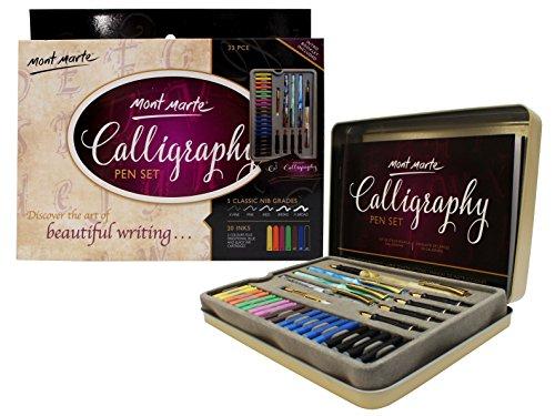 MONT MARTE Set Calligrafia - 33 pezzi - Perfetto per principianti - Include Penna Calligrafica 4x,...
