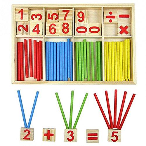 Set di giocattoli in legno, giochi educativi Montessori, barra dell'intelligenza matematica,...