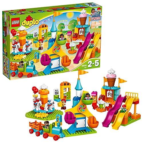 LEGO DuploTown IlGrandeLunaPark, Giocattolo con Treno e Scivoli, 10840