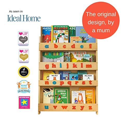 Tidy Books® Libreria montessoriana per bambini (età 0-10), Alfabeto tattile montessori, Mobile per...