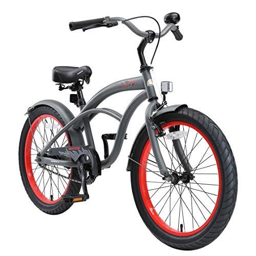 BIKESTAR Bicicletta Bambini 6-7 Anni | Bici Bambino Bambina 20 Pollici Freno a Pattino e Freno a...