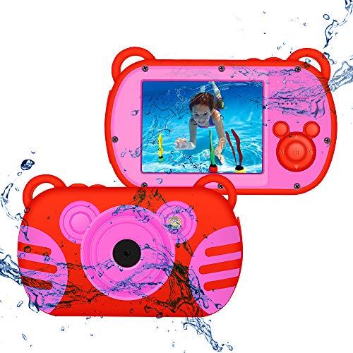 CamKing Kids Fotocamera Subacquea Digitale Impermeabile per Bambini,K6 HD 1080P 18 MP 2.7 Pollici Screen...