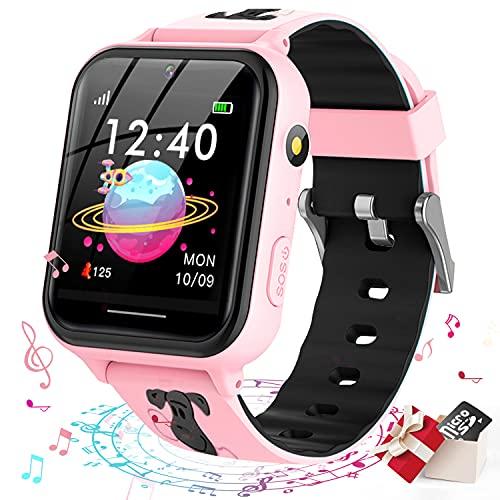 Smooce Smartwatch Bambini, Orologio Smartwatch Bambini Telefono con Musica MP3, Chiamata...