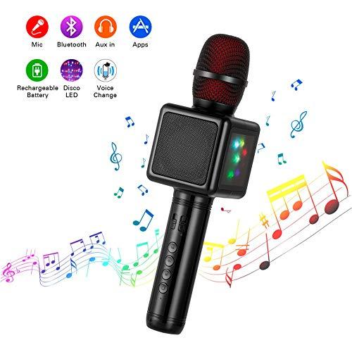 Microfono Karaoke Bluetooth Wireless, Cocopa Microfono Bambini Senza Fili Adulti con Altoparlante,...