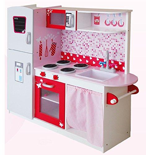 Leomark Grande Cucina Rosa In Legno Giocattolo Per Bamibni Gioco G'imitiazione Educazione Tavola...