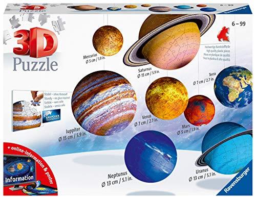 Ravensburger 11668 Il Sistema Planetario 3D Puzzleball, 540 Pezzi, Multicolore, 8 pianeti, Età...