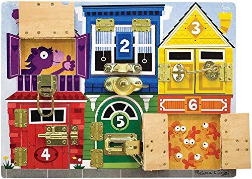 Melissa and Doug Gioco in legno Il puzzle delle serrature e lacci - tavola attività