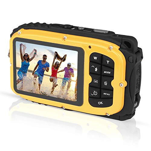 PowerLead Fotocamera Digitale Waterproof Impermeabile Resistente all'Acqua, Videocamere subacquee,...